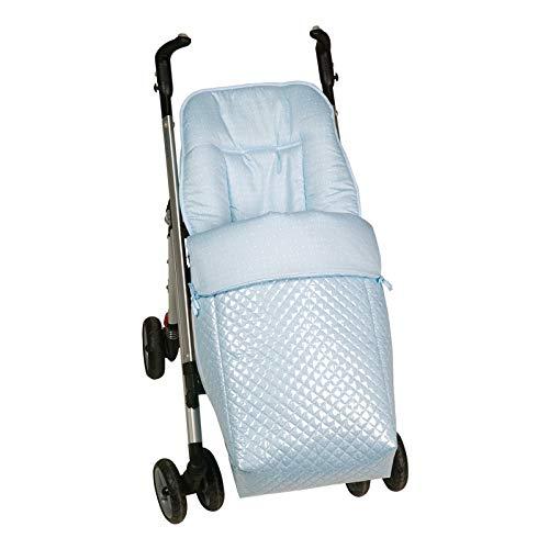 Imagen para Saco silla paseo universal AZUL plastificado IMPERMEABLE para evitar frios. Desmontable en colchoneta y cubrepies. Válido para los diferentes coches del mercado. Bebelovers, Koketes, Mobibe