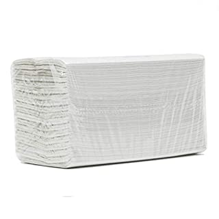 WHITE 2 PLY C-FOLD PAPER HAND TOWELS MULTI FOLD CASE OF 2400