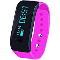 Bluetooth Smart Wristband, Koiiko® Fashion Design impermeabile IP55i5intelligente attività Fitness Tracker con contapassi e qualità del sonno e salute Sport monitoraggio per iOS 7.0Android