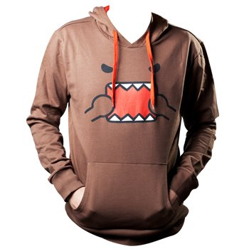 Domo-kun - Domo Kapuzen-Pullover Gr. XL Hoodie Pulli Original & (Domokun Kostüm)