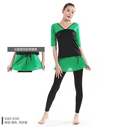 Qsheulx Yoga Convient et femelle Fitness Porter Soutien-gorge avec Tight jupes et séchage rapide Grape Purple Clouds With Lace Skirt Shirt Trousers Two Piece
