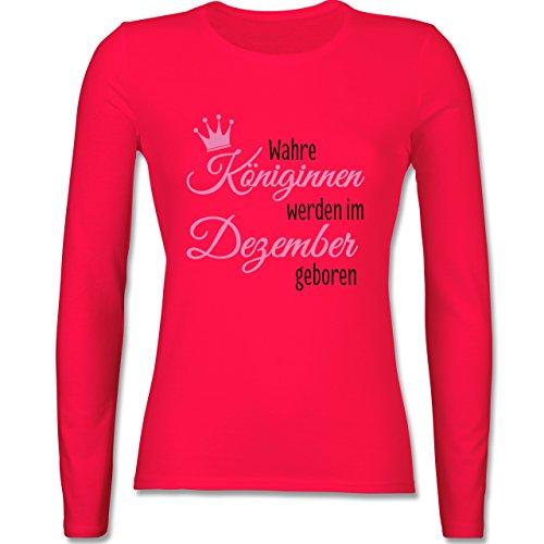 Geburtstag - Wahre Königinnen werden im Dezember geboren - tailliertes Longsleeve / langärmeliges T-Shirt für Damen Rot
