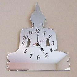 Reloj de Espejo - Buda - 40 x 27 cm