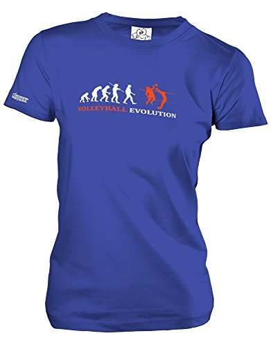 VOLLEYBALL EVOLUTION - Royalblau - WOMEN T-SHIRT by Jayess Gr. M (T-shirt Volleyball Designs)