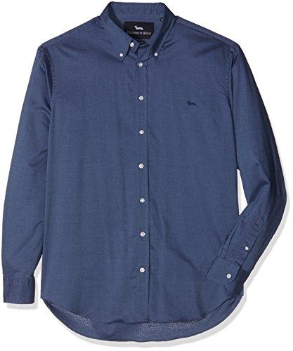 Harmont & Blaine 2 Tessuti, Camicia Uomo, Blu, L