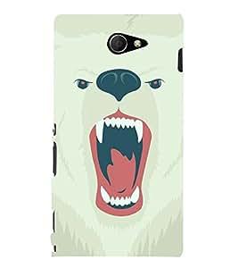 Fuson the lion theme Designer Back Case Cover forSony Xperia M2 Dual :: Sony Xperia M2 Dual D2302-3DQ-1228