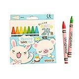 Pastel à l'huile de 24 couleurs, crayons de couleur non toxiques, appropriés à la peinture d'été d'école primaire