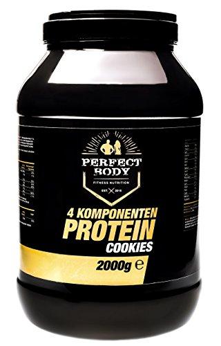 Perfect Body 4 Komponenten Protein Cookies, 2000g Dose -aspartamfrei!! -4 hochwertige Proteinquellen -optimal zum Muskelaufbau, zur Gewichtskontrolle und während Diäten -zuckerreduziert -hoher Proteinanteil -fördert die Regeneration -direkt vom Hersteller -beste Qualität Made in Germany