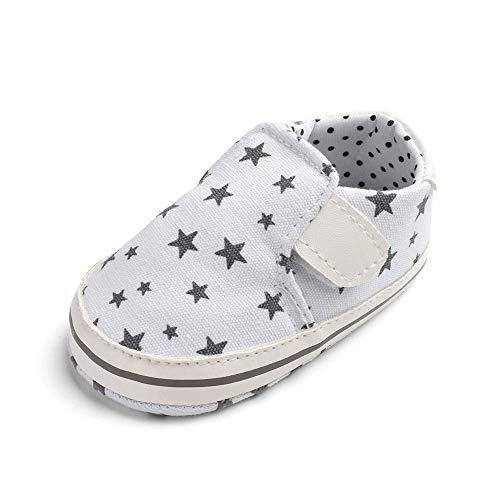 Quaan Neugeborenes (11-13) Baby Freunde Mädchen Junge Star Drucken Weich Anti-Rutsch Klettverschluss Schuhe elastisch Holloween Prinz Prinzessin atmungsaktiv Weihnachten Turnschuhe