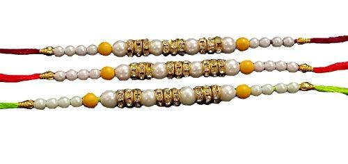 G&D Satz von Drei Rakhi Thread, Raksha Bandhan Geschenk für Ihren Bruder, Rakhi für Bruder, Rakhi Armband, Rakhabandhan Rakhi, Rakshabandhan Festival (Multi Color Thread) (Thread Schwestern)