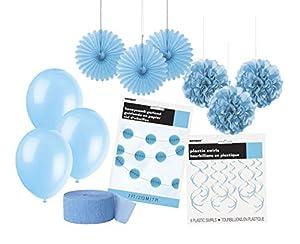 Unique Party- Party Kit, Color azul claro (63844)
