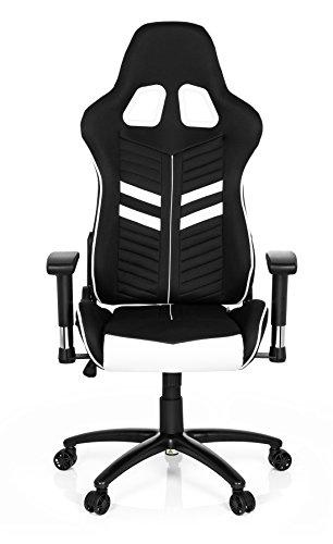 hjh OFFICE 729250silla de Gaming/Silla de oficina League Pro I tela/sintética negro/blanco