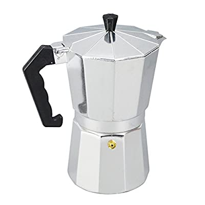 Italian Espresso Maker, Aluminum 1/3/6/9/12 Cup Latte Mocha Coffee Pot Stove Top Macchinetta Made of Stainless Steel with Copper Chrome Finish,for Full Bodied Stove Top Coffee