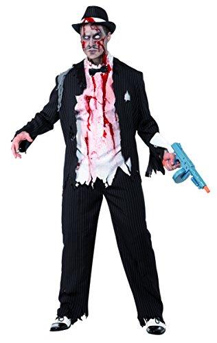 Zombie-Gangster Mafioso Halloween-Kostüm schwarz-weiss M