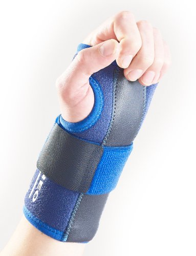 Neo G - Muñequera estabilizada, Derecha, Calidad de Grado Médico, Ayuda a muñecas lesionadas, artríticas, esguinces, distensiones, inestabilidad, síndrome del túnel carpiano, tamaño Universal, Unisexo