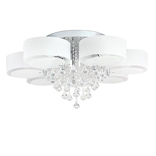 7-flammig 49W LED Warmweiß und 24W RGB Acryl Kristall Deckenleuchte Deckenlampe Flur Schlafzimmer Küche Wandleuchte Wohnzimmer Lampe (7-flammig)
