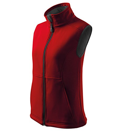 Damen Softshell Weste Funktionsweste & Freizeitweste Outdoor (Rot, XL)