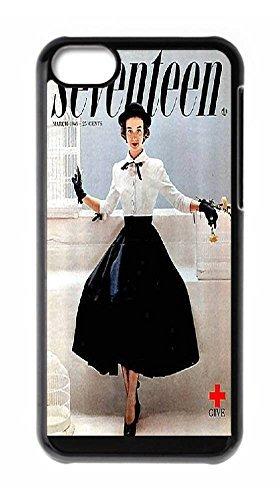 Seventeen magazine 1949 March Iphone 5C Durable Hard Plastic Case Cover Custom DIY