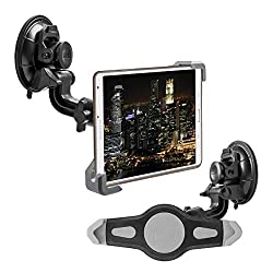 """kwmobile 7-8"""" Tablet PC KFZ Scheiben Halterung - PKW Auto 360° Halter mit Saugnapf für Tablets - 21,0 - 27,0 cm Innenmaße"""