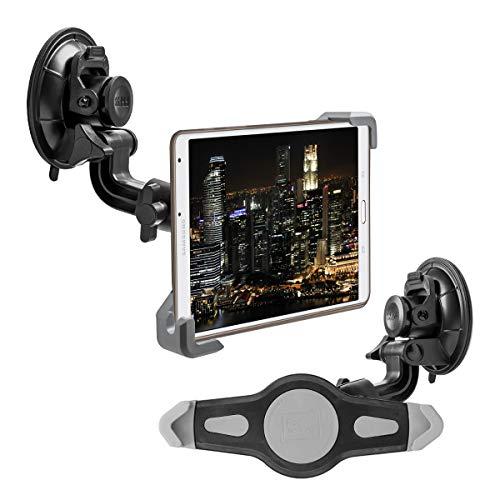 """kwmobile 7-8"""" Tablet PC KFZ Scheiben Halterung - Tablet PKW Auto Halter mit Saugnapf - 360° Autohalter in Schwarz"""
