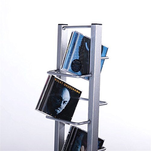 design cd st nder cd regal lounge tower 138cm aus alu mit. Black Bedroom Furniture Sets. Home Design Ideas