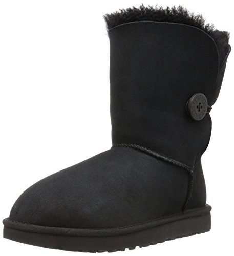 UGG Bailey Button, Stivaletti Donna, Nero, 38 EU
