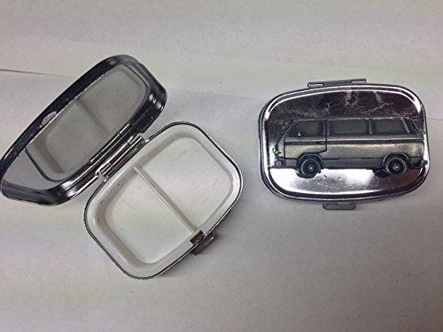 VW Typ 25Van Seite ref304b Zinn Effekt Emblem auf Reisen Silber Rechteckig Metall Pillendose
