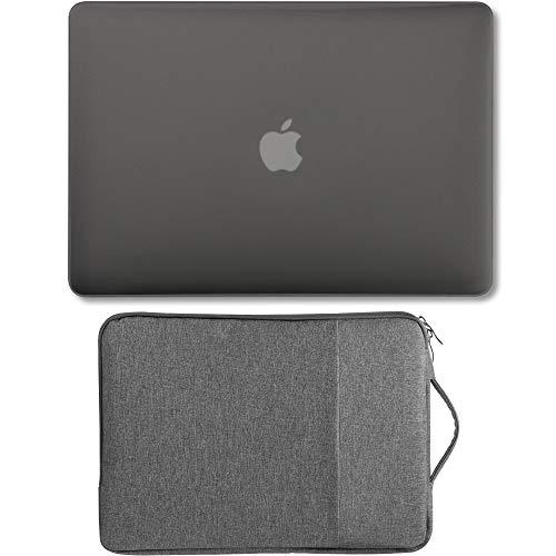 GMYLE Hülle Schalen MacBook Air 13 A1369 A1466 2008-2017 Ausgabe NO Touch-ID, 2-1 Pack Mattierte Schutzhülle Hartschale Cover und 13-13,3-Zoll-Tragetasche Laptop mit Griff- Aschgrau