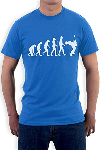 Evolution Of Guitar Rock musikalisches Motiv T-Shirt Hellblau
