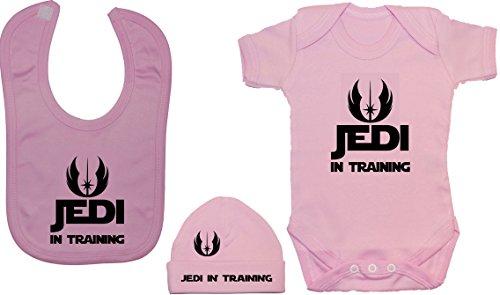 Jedi en el entrenamiento Bodysuit / mameluco del bebé, alimentando el babero y...