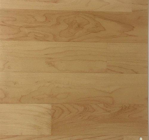 PVC Vinyl-Bodenbelag in Ahorn-Schiffsboden-Optik | CV PVC-Belag verfügbar in der Breite 200 cm & Länge 150 cm | CV-Boden wird in benötigter Größe als Meterware geliefert | rutschhemmend & robust