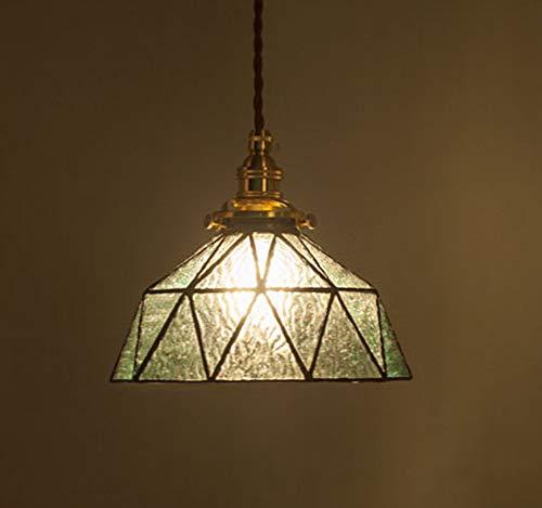 Style Pendelleuchte, LED Vintage Glas Lampenschirm Kronleuchter Nordic Kreative Leuchte für Flur Gang Restaurant-blue ()