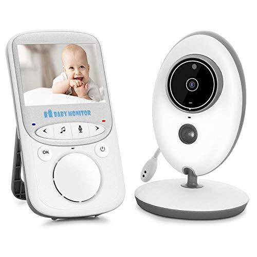 TKSTAR Babyphone Baby Monitor , 2-Wege-Talk Baby Care, 2.4 Zoll LCD Bildschirm Mini Baby Monitor Video Babyphone mit 2-Wege-Talk Nachtsicht Lullabies Temperatursensor TB605 Weiß