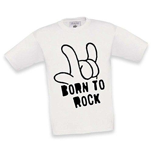T Shirt Maglietta Maglia Bambino Born To Rock