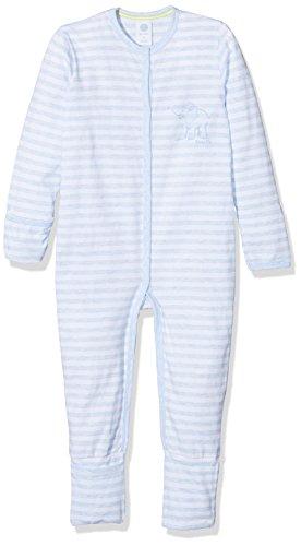 Sanetta Baby-Jungen Schlafstrampler 221384, Blau (Bleu Melange 50240), 80