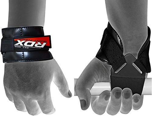 RDX Umgekehrte Haken Fitness und Bodybuilding Zughilfen, Schwarz, One Size