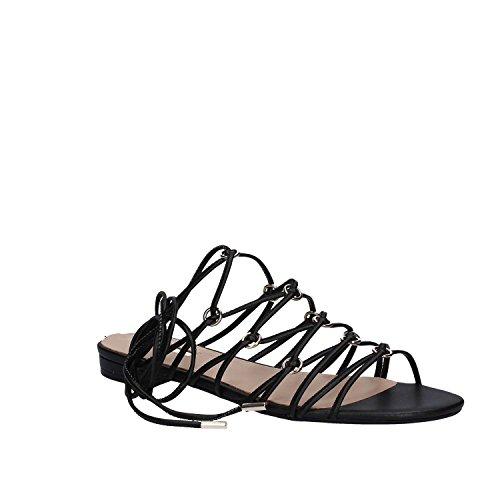 GUESS Sandalo Pelle Greco Schiava Corde FLRHC1ELE03/FLRHC1PEL03 Nero