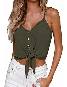 Camicia Maglietta da Donna - Kword Camicetta Senza Maniche da Donna Camisole Canotte e Camicie Pullover Top T-Shirt...
