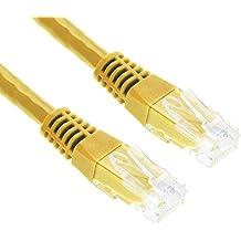 2m CAT.6 Cavo di Rete Ethernet Gigabit LAN (RJ45) | 10/100/1000Mbit/s | Cavo Patch | UTP | G-Shield | Compatibile con CAT.5 / CAT.5e / CAT.7 | Modem / Router / Switch / Patchpannel / Access Point | 2 Metri - Giallo