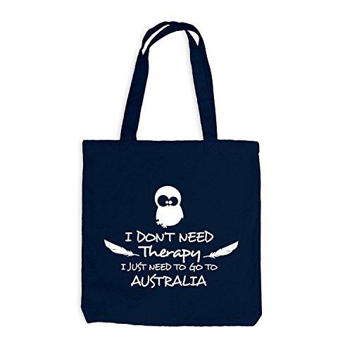 Jutebeutel - Need Therapy - Just Go to Australia Navy