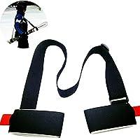 Correa Porta Esquí Snowboard ajustable correa nailon ligera para esquís color negro