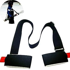 Vinciann Gurt-Ski Snowboard Verstellbare Schulterriemen Nylon leicht Skiträger schwarz