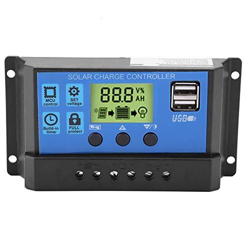 Solarladeregler - PWM 12V 24V Dual USB Solar Panel Laderegler Regler LCD Display (Farbe : YJSS-20A)