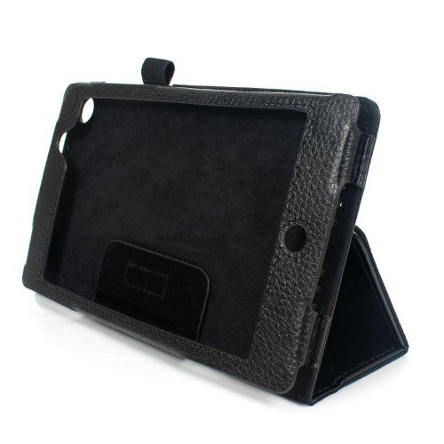 2-TECH Smart Cover Hülle Leder Tasche Folio mit Multi Ständer passend für Google Nexus 7 2013 (Neue Edition) (Nexus 7 2013 Tasche Aus Echtem Leder)