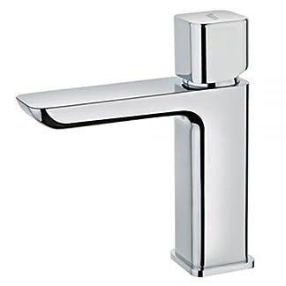 Teka 623420200cromado baño grifo del fregadero con caño fijo de Formentera–Color Gris