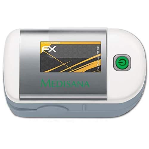 atFolix Panzerfolie kompatibel mit Medisana PM 100 Schutzfolie, entspiegelnde und stoßdämpfende FX Folie (2X)