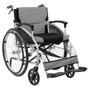 pliant en aluminium auto fauteuil roulant à propulsion avec des freins à main en découlent