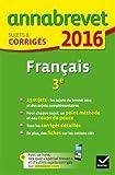 Français 3e : Sujets et corrigés