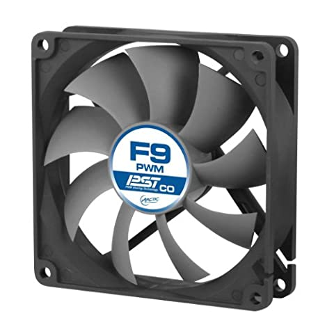 ARCTIC F9 PWM PST CO - 92mm Dual Ball Bearing Low Noise PWM Standard Case Fan with PST Feature - Ideal for Systems running