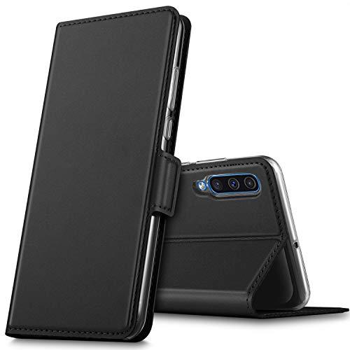 GEEMAI für Samsung Galaxy A50 Hülle, handyhüllen Flip Hülle Wallet Stylish mit Standfunktion und Magnetisch PU Tasche Schutzhülle passt für Samsung Galaxy A50 Smartphone, Schwarz
